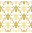Seamless modern pattern with spiders vector image