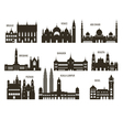 Silhouettes of cities vector image vector image