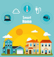 smart house with set services icons vector image
