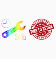 spectrum pixelated nonstop repair service vector image vector image