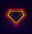 superhero neon banner vector image