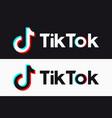 tiktok icon glitch tik tok logo vector image vector image