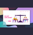 time is money website landing page tiny vector image vector image