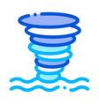 tornado sea water icon outline vector image vector image