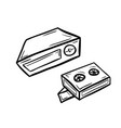 videoplayer with two cassettes vector image vector image