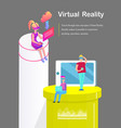 virtual reality phone cell vector image vector image