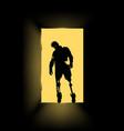 zombie at door vector image vector image
