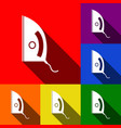 iron sign set of icons with flat shadows vector image