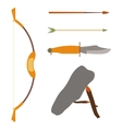 Ancient history hunting objects vector image