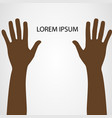 hands up isolated on white background vector image