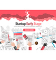 Startup Landing Webpage or Corporate Design Cover vector image