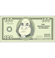 100 cartoon American dollar vector image