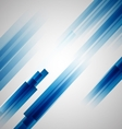 Abstract blue background with straight lines vector image