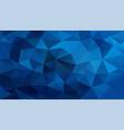 abstract irregular polygonal background royal blue vector image vector image