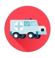 ambulance car icon vector image vector image