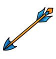 arrow weapon with thin straight stick and sharp vector image