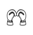 boxing gloves logo inspiration isolated on white vector image vector image