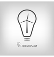 Bulb with wind turbine as eco energy symbol vector image vector image