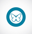 butterfly icon bold blue circle border vector image vector image
