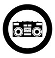 cassette recorder mobile stereo music icon in vector image vector image