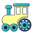 children train for walks icon cartoon style vector image vector image