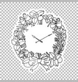 clock wreath sticker ornate vector image