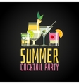 Cocktail summer party vector image vector image