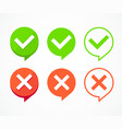 color checkboxes signs set vector image vector image