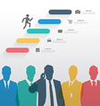 Colorful silhouette businessman team vector image vector image
