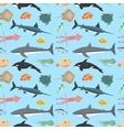 cute fish seamless pattern vector image vector image