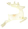 Deer golden isolated vector image vector image