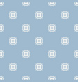 elegant light blue geometric seamless pattern vector image vector image
