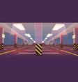 empty underground car parking vector image