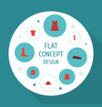 flat icons hosiery waistcoat swimming trunk and vector image vector image