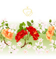 floral border seamless background hibiscus vector image vector image