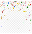 gold confetti celebration background vector image