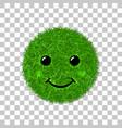 green grass face smile smiley grassy icon vector image vector image