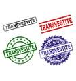 grunge textured transvestite stamp seals vector image vector image