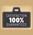 guarantee logotype 100 percent satisfaction
