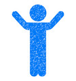 Hands up child grunge icon vector image