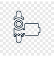 handy cam concept linear icon isolated on vector image