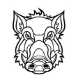 head boar mascot design vector image