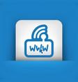 internet modem icon vector image vector image