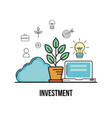 investment and analytics to busines corporation vector image