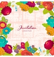 Invitations flowers for holiday vector image vector image