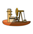 isolated fuel factory vector image vector image
