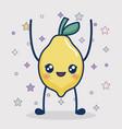 kawaii lemon icon vector image vector image