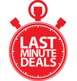 last minute deals stopwatch icon vector image
