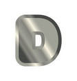 letter d steel font metal alphabet sign iron abc vector image vector image