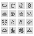 line spa icons set vector image